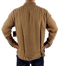BRAND NEW LEVI'S MEN'S LINEN LONG SLEEVE CASUAL DRESS SHIRT BROWN 8151400 image 4