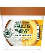 2 - GARNIER FRUCTIS 1 MINUTE HAIR MASK - COCONUT EXTRACT 3.4 FL. OZ. EACH - $12.99