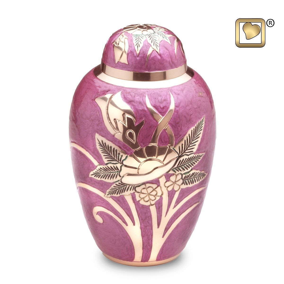 Lilac Rose Adult Funeral Cremation Urn,  200 Cubic Inches