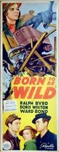 "Born to be Wild. 1938 Original 14""x36"" US Insert Theater Movie Poster. F... - $80.00"