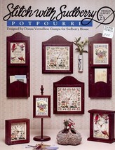 Sudberry #23 Potpourri Sampler Birds Welcome Square Clock Cross Stitch P... - $5.37