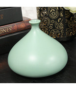 Teco Art Pottery by Frank Lloyd Wright Contemporary Satin Green Kiss Vase Decor - $57.99