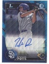 2016 Bowman Draft Chrome Draft Pick Autographs Refractors Blue #CDA-HS H... - $49.99