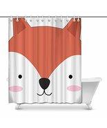 InterestPrint Funny Cute Baby Fox Face Happy Comic Animal House Decor Sh... - $33.65