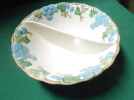 "Great POPPY TRAIL by Metlox China ""Sculptured Grape"" Divided Veggie Dish - $15.65"