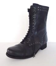 Women Diesel The Wild Land Arthik Lace Up Combat Boots Sz 6 36 EUR M Black $295 - $128.65