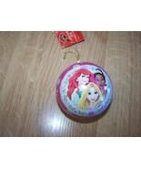 Disney Princess Collectable Fillable Tin Ornament Ariel Rapunzel Tiana New - $10.00