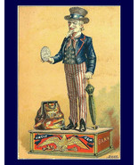 Uncle Sam Bank Advertisement, US Government, Liberty, old cast iron bank... - $23.99