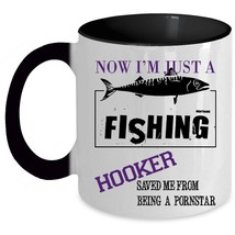 From Being Pornstar Coffee Mug, Now I'm Just A Hooker Accent Mug - $19.99+