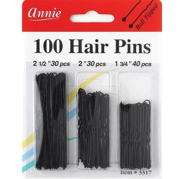Primary image for Annie 100 Hair Pins Ball Tipped Bobby Pin Hair Clips Assorted Size Black #3317