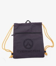 "Overwatch Logo Cinch Tote Bag - Black Rugged Canvas 16"" x 14"" - Blizzard - $64.99"