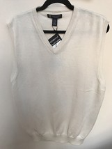 Oxford Golf Off-White Sweater Vest L NWT - $29.99