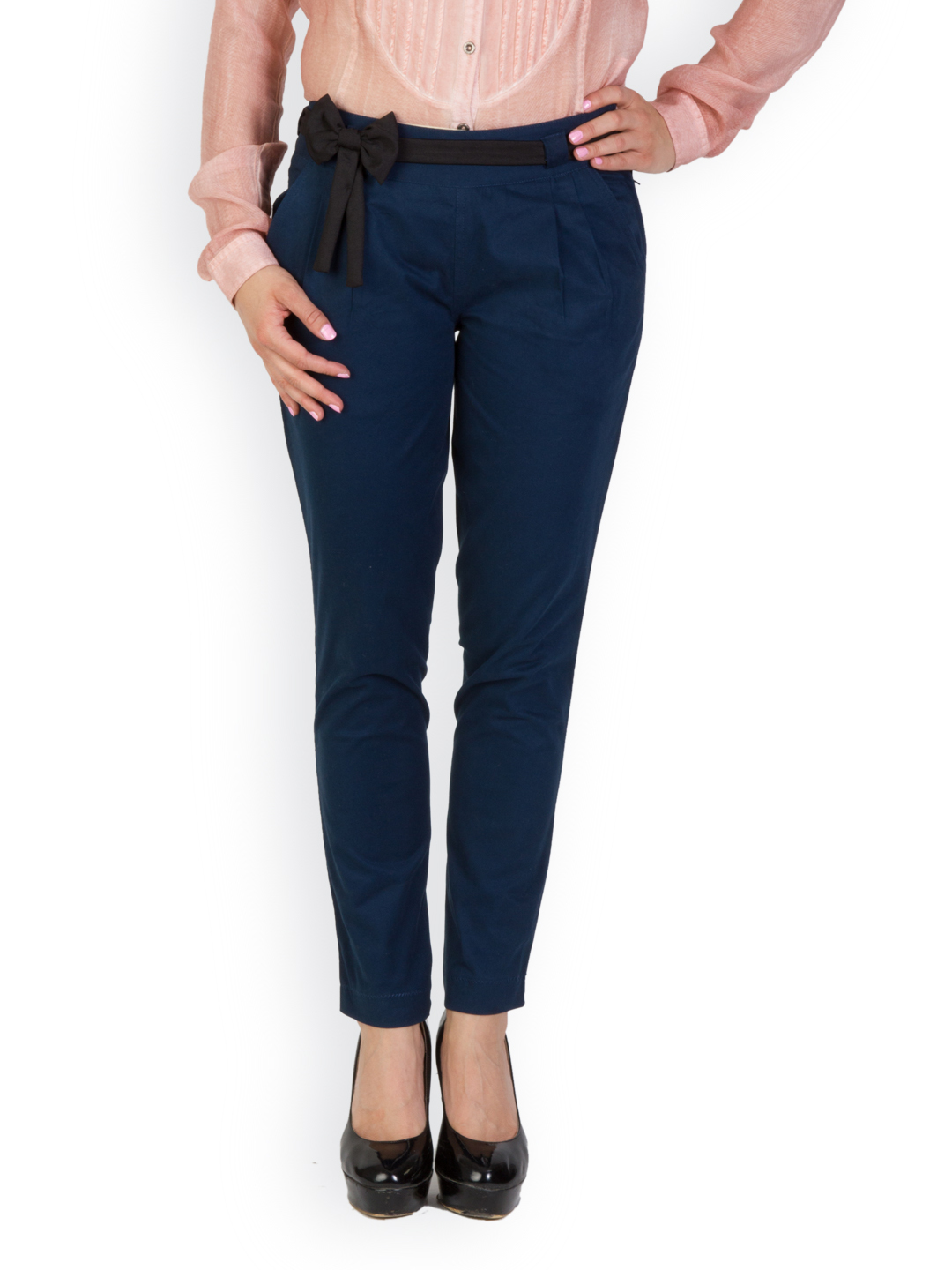 Rider Republic Women's Blue Flat Front Stretch Pant
