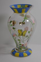 Lenox Crystal Butterfly Meadow Handpainted Vase w/Box - $28.04