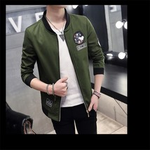 Men's coats in spring and autumn, 2018 new men's slim type thin jacket tide - $48.76