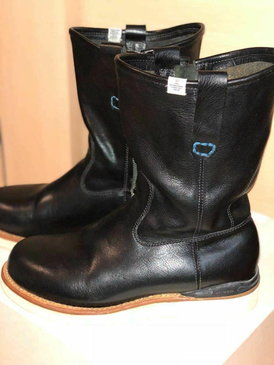 FIL limited 1st model visvim WABANAKI BOOTS-FOLK US8 BLACK Pecos boots