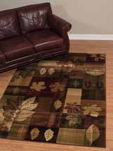 Lodge Cabin Forest Leaves Rustic Leaf Area Rug **Free Shipping** - €148,21 EUR+
