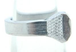 VTG Silver Tone Metal Nail Ring Size 6.25 - $19.80