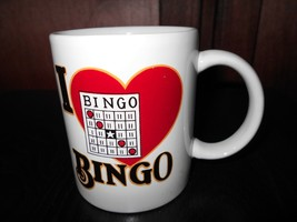 "I Love Bingo Coffee Cup Mug  3 3/4"" Diam X 3 1/4"" Tall - $9.50"