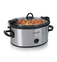 Crock Pot Slow Cooker 6 Quart Lunch Food Warmer Stainless Steel Portable... - £36.64 GBP