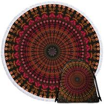 Reddish Mandala Beach Towel - $12.32+