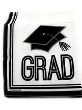 36 Graduation Beverage Cocktail Napkins Paper - Graduation Cap - $3.66