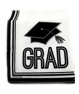 36 Graduation Beverage Cocktail Napkins Paper - Graduation Cap - $68,60 MXN