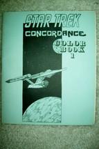 Rare/Vintage 1973 Star Trek Concordance Color Book 1 - Unused, EX/NM Con... - $36.75