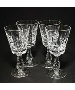 4 (Four) WATERFORD KYLEMORE Cut Lead Crystal Port Glasses Made in Irelan... - $170.99