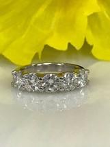 Moissanite 5 Stone 2.50 ctw Wedding Anniversary Band Ring 14k White Gold... - $104.93
