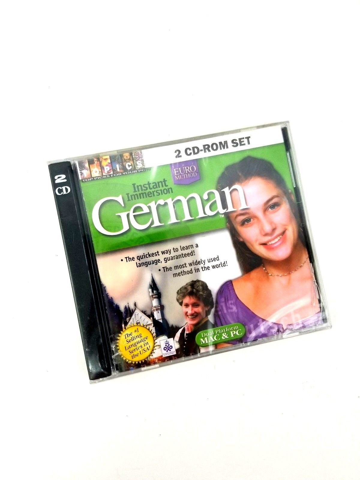 Instant Immersion German The Euro Method 2 CD-ROM set Talk German Now! New