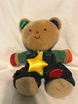 "K's Kids Teddy Wear Bear Plush 13"" Stuffed Animal Baby Zipper Button - $13.85"