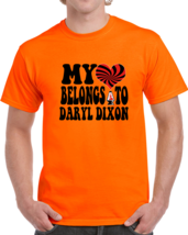 My Heart Belongs To (customizable) Daryl Dixon T-Shirt Novelty Walking D... - $15.97+