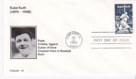 BABE RUTH #2046 CHICAGO, IL JULY 6, 1983 CINQUAIN CACHET D-2046 - ₹217.21 INR