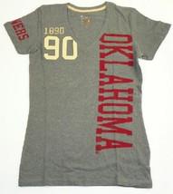 Junior Women's Oklahoma Sooners Shirt Alpha Phi V-neck Tee T-shirt NEW