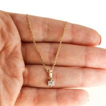 18k Gold Chain 0.20ct Diamond Necklace Pendant 18k Gold BHS - $682.35