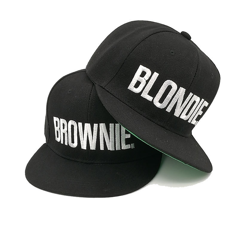 wholesale dealer b72b5 43aab Ai 2017 blondie brownie embroidery snapback hat caps women men girls  baseball cap hip hop fitted