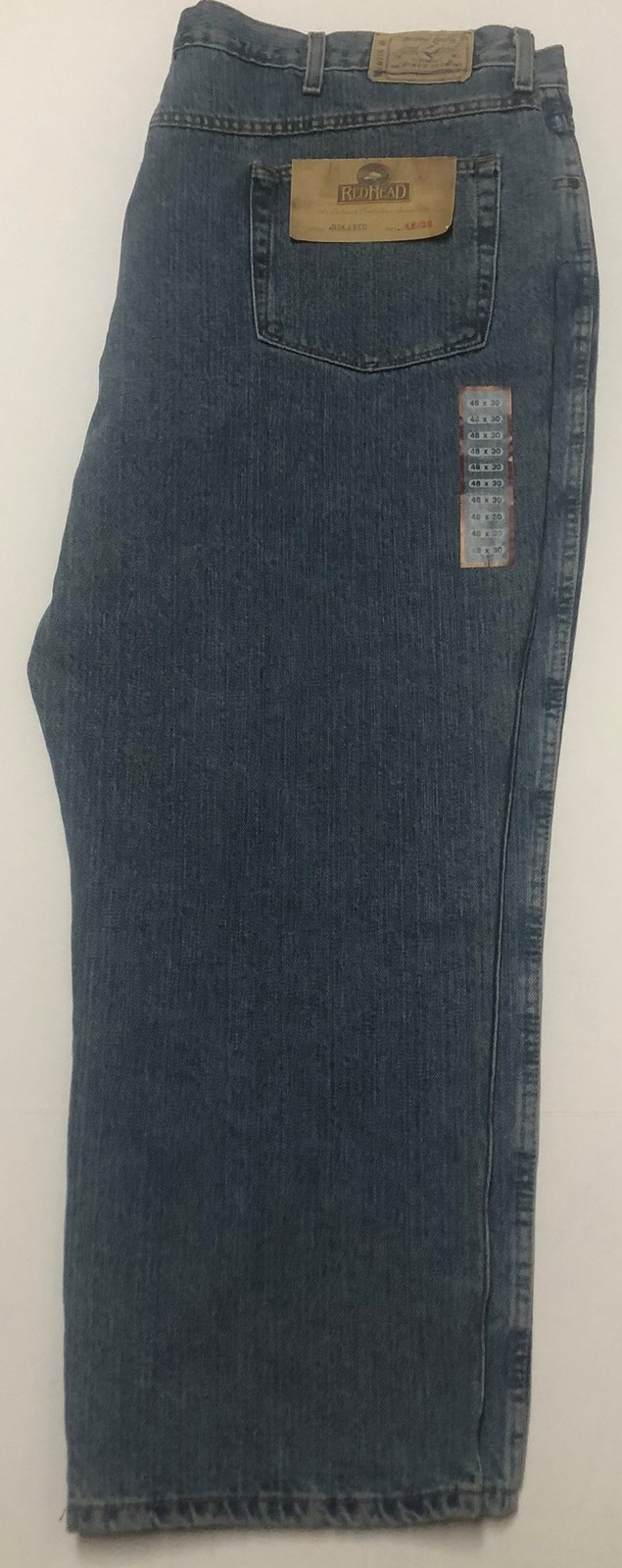 Red Head Relaxed Men's Blue Jeans Sz 48/30 Medium Stone Wash image 3
