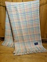 Vintage 1960s Pendleton Woolen Mills Pastel Woven Shawl Camping Blanket ... - $197.99