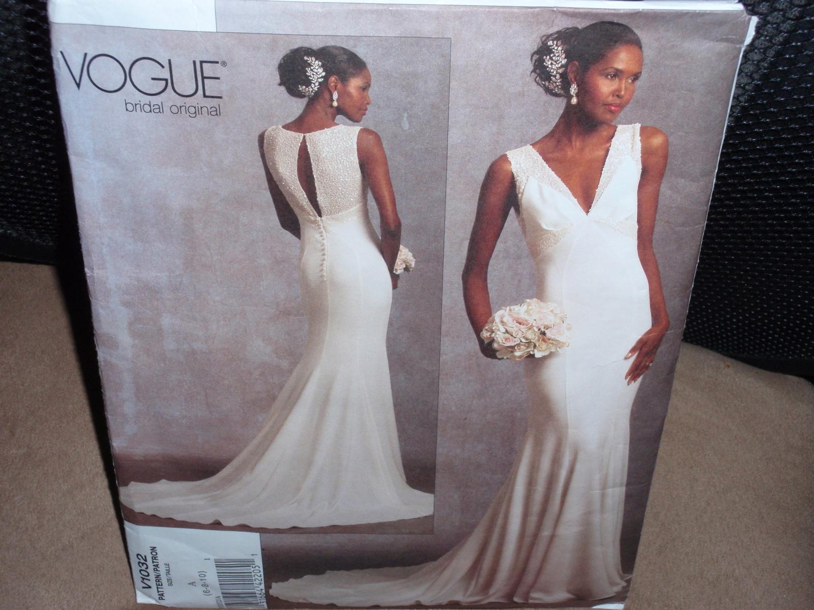 Vogue Pattern 1032 Misses Wedding Dress Size 6-8-10