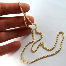 18K YELLOW GOLD CHAIN NECKLACE, BRAID ROPE LINK 19.69 INCHES, MADE IN ITALY image 5