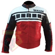 Yamaha 6728 Red Motorbike Motorcycle Armoured Cowhide Leather Jacket - $184.99