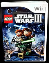 LEGO Star Wars III: The Clone Wars Wii Case Game Disc Manual CIB - $8.58