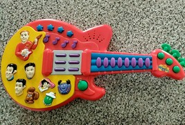 The Wiggles Red Guitar Musical Songs & Sounds Toy 2003 Spin Master WORKS 100% - $18.61