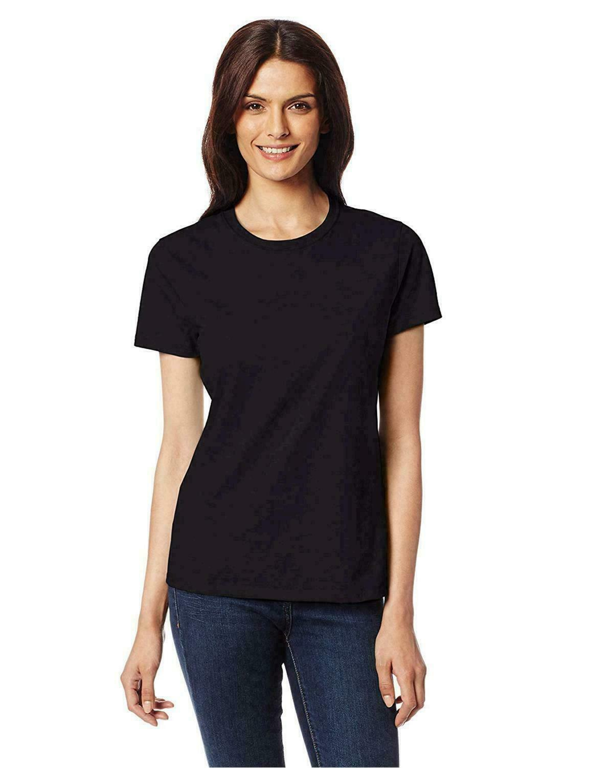 Hanes Women's Nano T-Shirt, Medium, Black, Black,Size Medium new with tags store