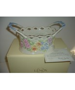 Lenox Gold Club Flowers of Spring Basket with Box & COA - $49.99