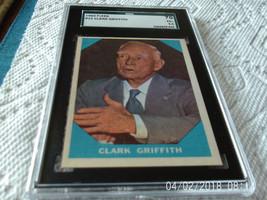 1960   FLEER   # 15    CLARK  GRIFFITH    SGC  70     BASEBALL  GREATS  ... - $19.99