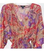 Chaps by Ralph Lauren Paisley Georgette Blouse Tunic Camisole Set Misses... - $39.99