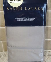 POLO RALPH LAUREN BEDFORD SATEEN 800 THREAD ONE EURO SHAM NEW  $185 GREY... - $55.94