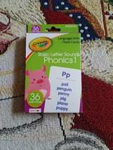 Crayola Language Skills 36 Flash Cards in FUN WITH PHONICS for Ages 4+ - $15.99